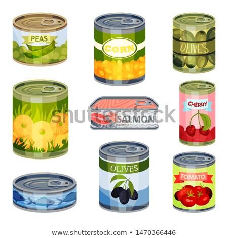 Pina aluminio pueden ilustración frutas fondo Foto stock © bluering