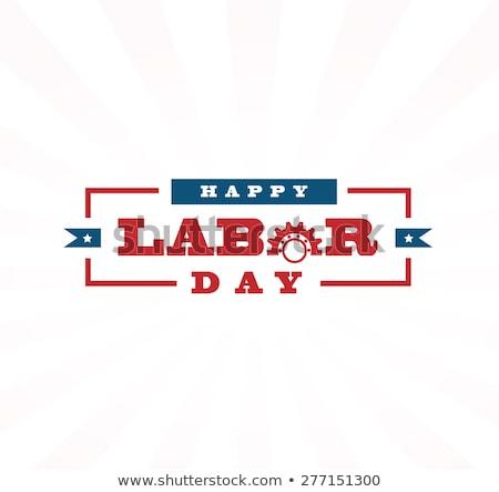 Labor Day Concept Design With Gear Stock photo © sdCrea