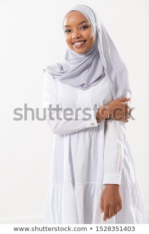 Vrouw traditioneel moslim kleding geïsoleerd witte Stockfoto © Elnur