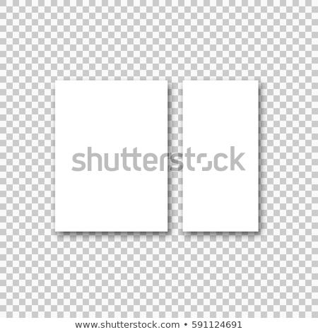 Stock fotó: üres · papír · brosúra · árnyékok · izolált · fehér · felfelé