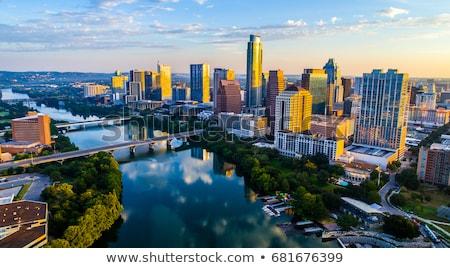 austin · Texas · panoramę · nice · mętny · dzień - zdjęcia stock © brandonseidel