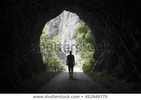 люди из туннель человек конец выход Сток-фото © adamr