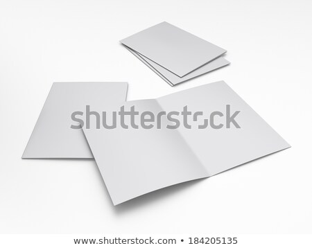 folded paper brochure template in perspective Stock photo © SArts