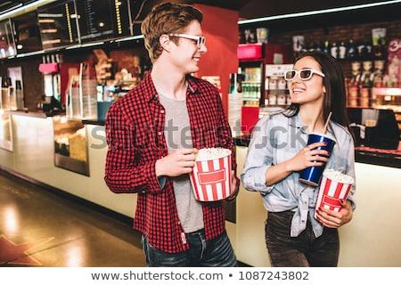 Felice Coppia guardando altro film teatro Foto d'archivio © wavebreak_media