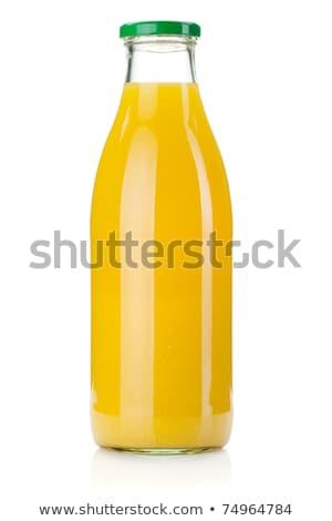 fles · sinaasappelsap · witte · water · blad · vruchten - stockfoto © Digifoodstock