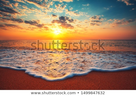 Beautiful sunset cloudscape over sea Stock photo © stevanovicigor