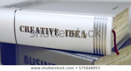 Negocios libro título creativa visión 3D Foto stock © tashatuvango