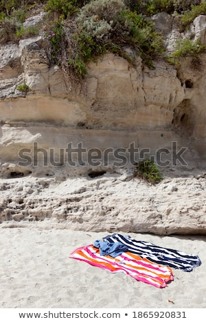 People lying in formation on beach Stock photo © IS2