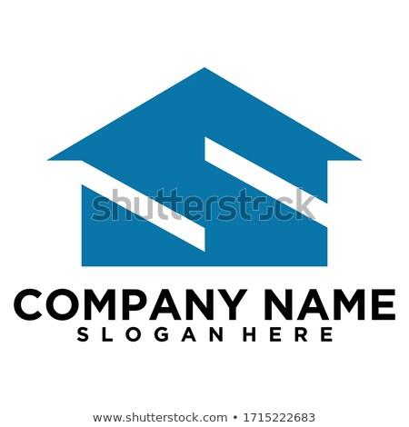 Stockfoto: Huis · logo · brief · teken · sjabloon · gebouw