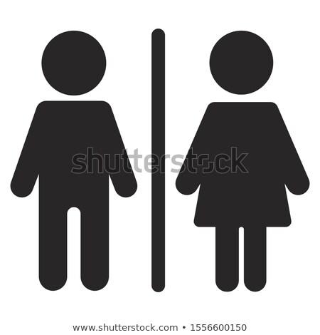 モノクロ 女性 シンボル 人間 ジェンダー にログイン ストックフォト © lissantee