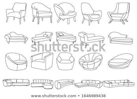 Set diverso soft lineare sketch vettore Foto d'archivio © Arkadivna
