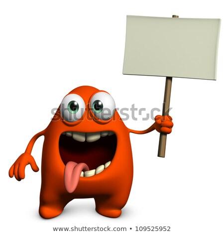 уродливые чужеродные знак Cartoon иллюстрация плакат Сток-фото © cthoman