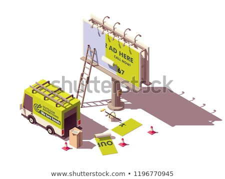 Vector isometric billboard advertising applying Stock photo © tele52