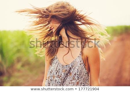 Esbelto mulher preto roupa posando Foto stock © acidgrey