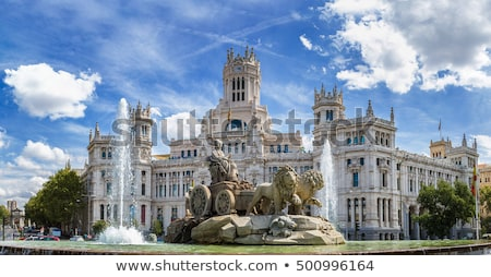 Мадрид подробность Испания здании город флаг Сток-фото © boggy