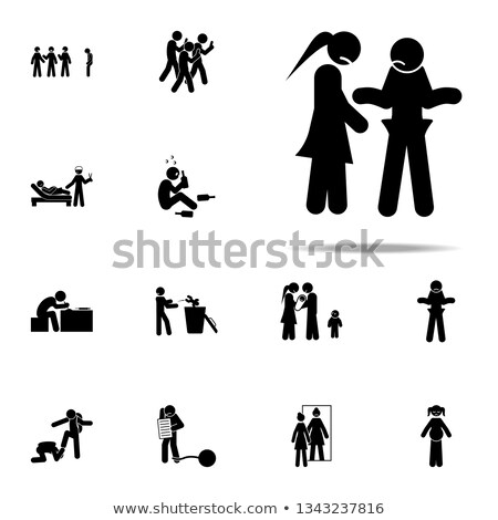 Family Financial Issues Set Vector Illustration Stock photo © robuart