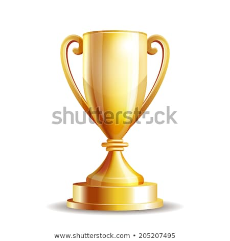 golden trophy cup for winner vector illustration stock photo © robuart