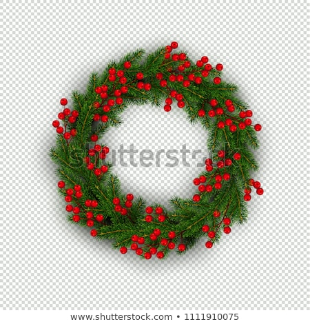 christmas wreath isolated transparent background stock photo © adamson
