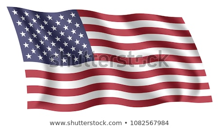 Fluttering, waving realistic American flag, national symbol Stock photo © MarySan