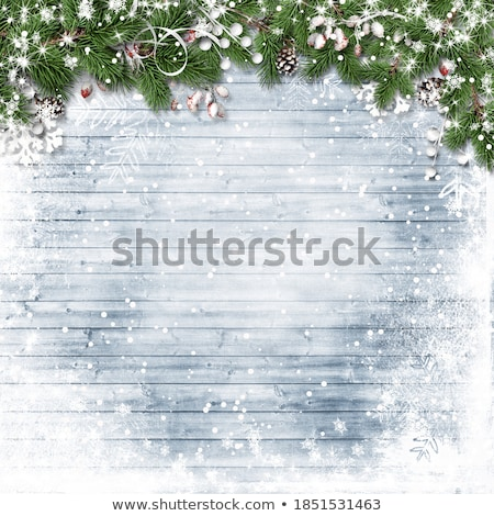 Christmas Banner With Bokeh And Firtree Frame Stock photo © adamson