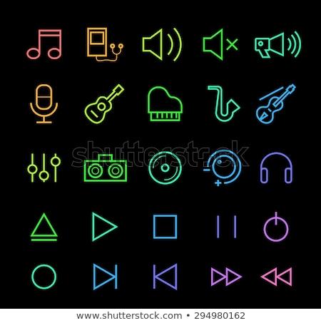 Kısmak neon müzik tanıtım ışık arka plan Stok fotoğraf © Anna_leni