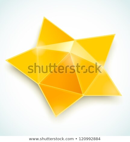 Golden star of origami. Stock photo © brulove
