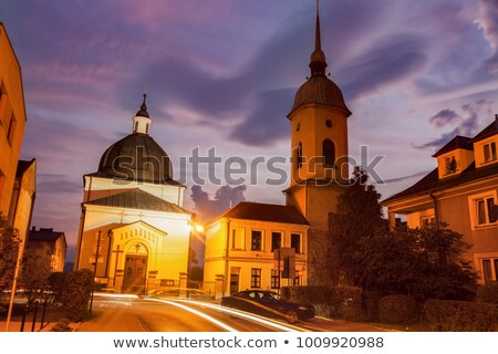 evangelical church in nowy sacz stock photo © benkrut