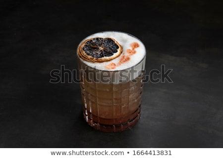 Stock fotó: Görögdinnye · koktél · fekete · friss · limonádé · menta