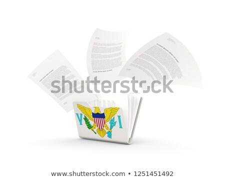Folderze banderą Wyspy Dziewicze plików odizolowany biały Zdjęcia stock © MikhailMishchenko