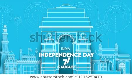 Híres indiai tájékozódási pont boldog nap India Stock fotó © vectomart