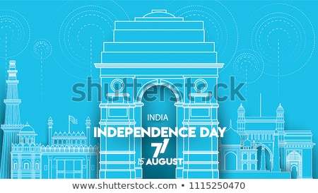 Famoso indiano ponto de referência feliz dia Índia Foto stock © vectomart