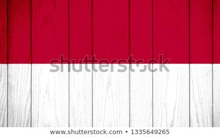 Indonesië vlag houten frame illustratie ontwerp achtergrond Stockfoto © colematt