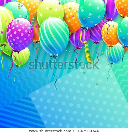 Félicitation carte coloré ballons illustration fond Photo stock © colematt