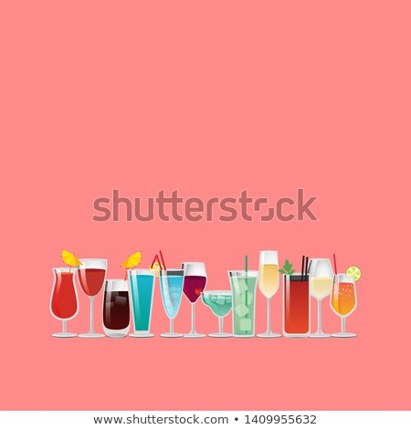 Summer Drinks Champagne Advertisement Poster Stock photo © robuart