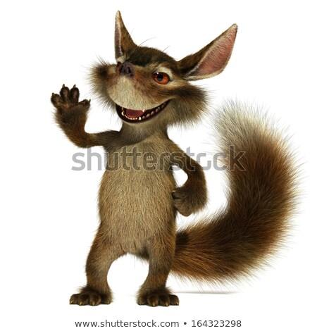 Cartoon sluw eekhoorn illustratie baby jonge Stockfoto © cthoman