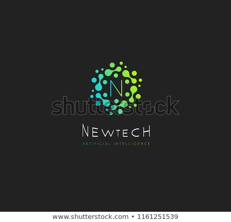 зеленый черный Tech логотип знак вектора Сток-фото © blaskorizov