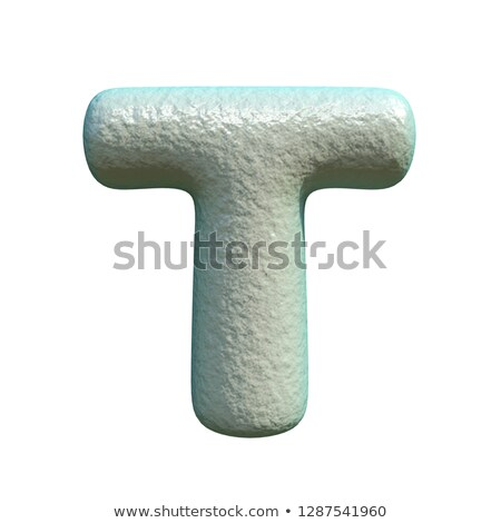 Grey blue clay font Letter T 3D Stock photo © djmilic