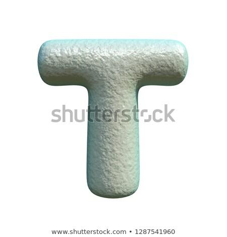 Cinza azul argila fonte letra t 3D Foto stock © djmilic