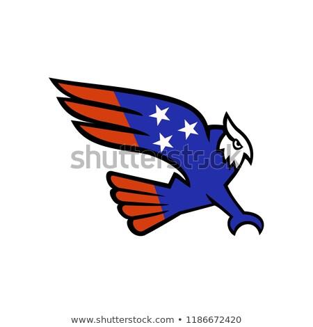 American Owl Swooping Mascot Stock photo © patrimonio