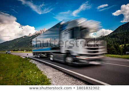 carburant · camion · vers · le · bas · autoroute · alpes · voiture - photo stock © cookelma