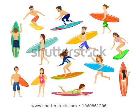 vector set of surfer stock photo © olllikeballoon