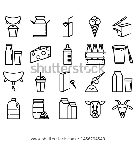 Melk dagboek productie icon geïsoleerd vector Stockfoto © robuart