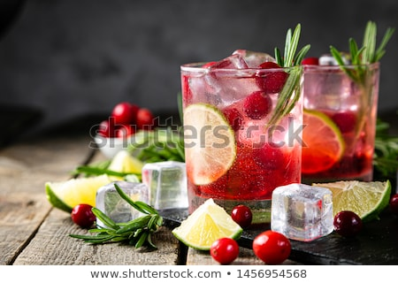 Cocktail with cranberry syrup Stock photo © grafvision