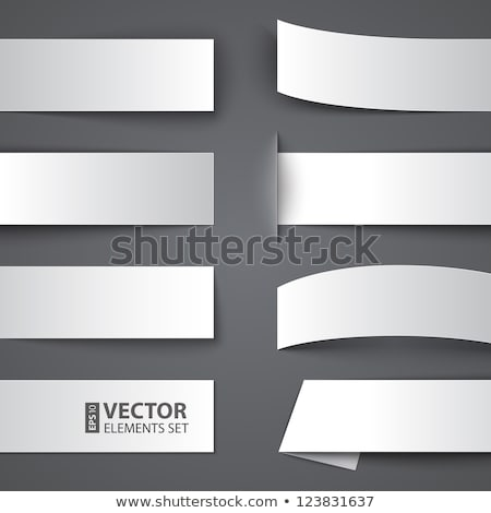 Lege abstract origami stijl banners ingesteld Stockfoto © SArts