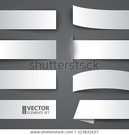 üres absztrakt origami stílus bannerek szett Stock fotó © SArts