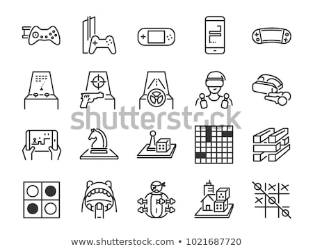 Chess board. Game. Icon set Foto d'archivio © netkov1