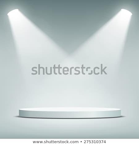 Fase podium licht vector achtergrond feestelijk Stockfoto © olehsvetiukha
