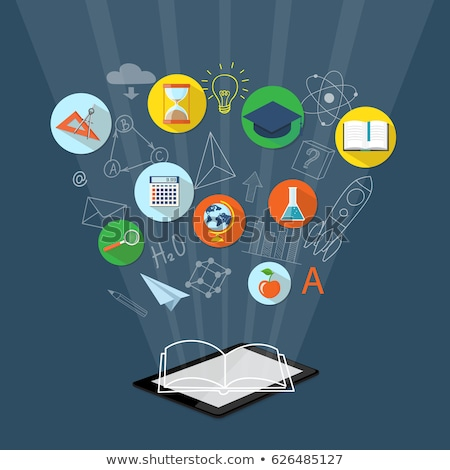 e learning concept   line design style isometric web banner stock photo © decorwithme