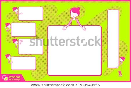 Stock photo: Ballet Bun hair Apron mom_text box