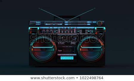 アイコン 白 デザイン 技術 ラジオ スピーカー ストックフォト © smoki